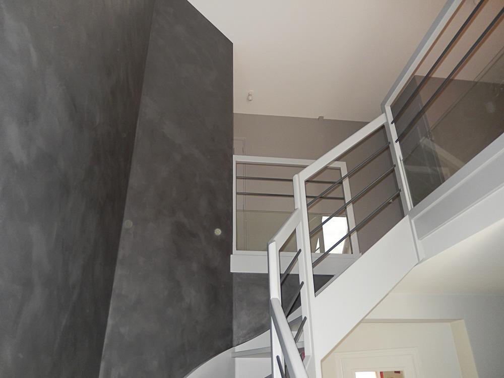 Effet d coratif artisan peintre angers nicolas placais for Peinture escalier beton
